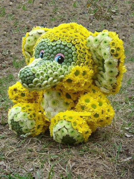 Слон из цветов заказать