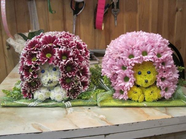 Поделки из цветов живых своими руками для садика 78
