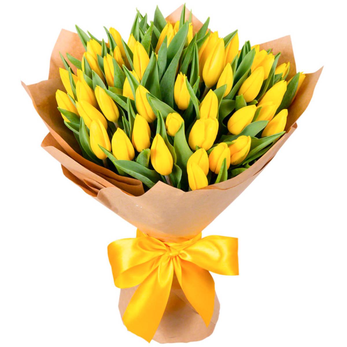 Пожелание к букет желтые тюльпаны фото