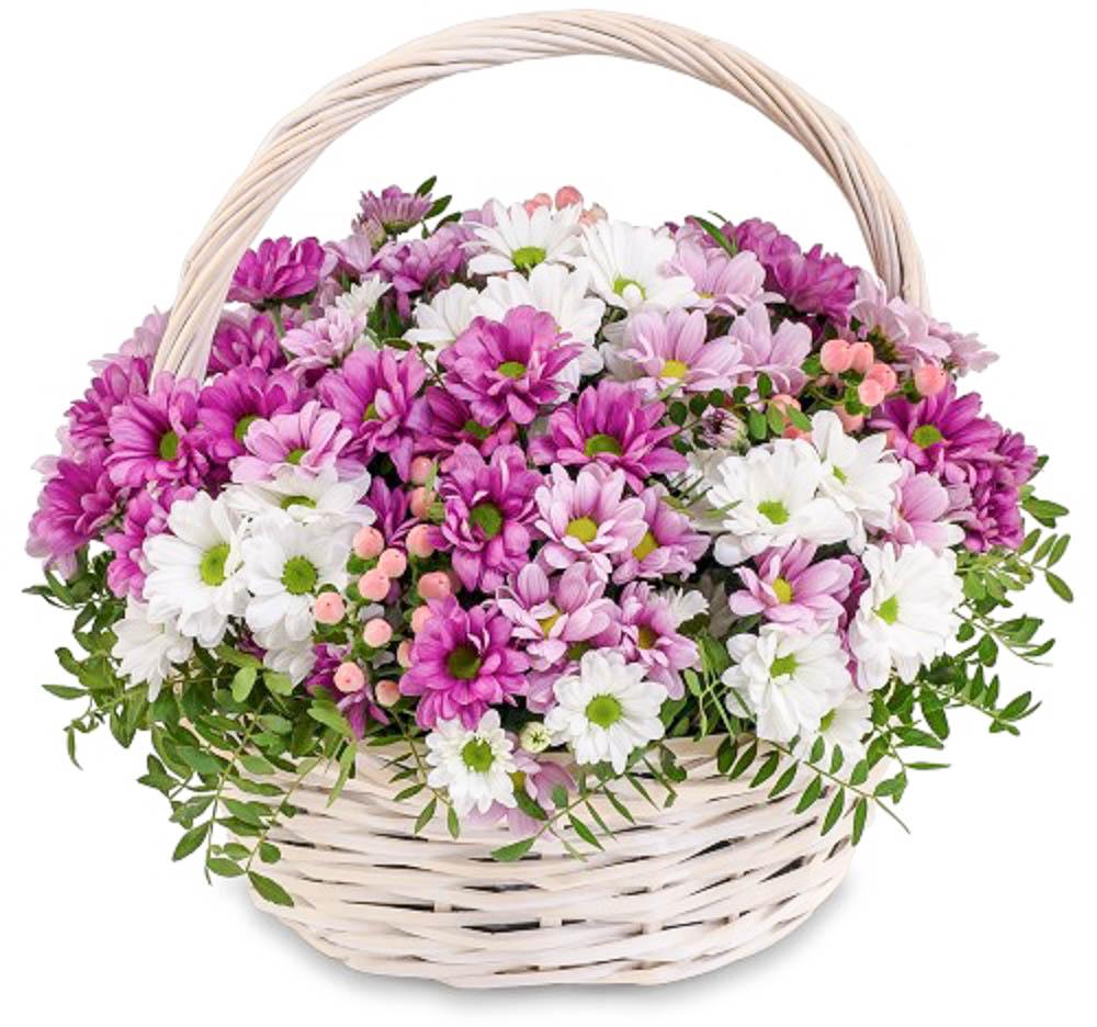 корзина с цветами картинка