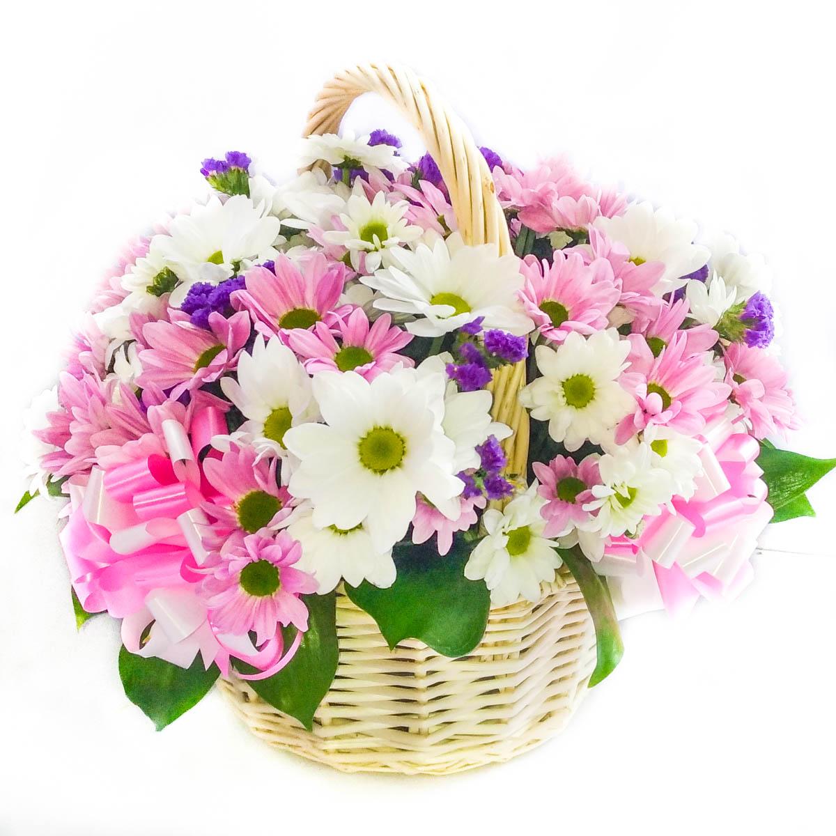 Цветов саратов, детские букеты в корзинах из хризантем