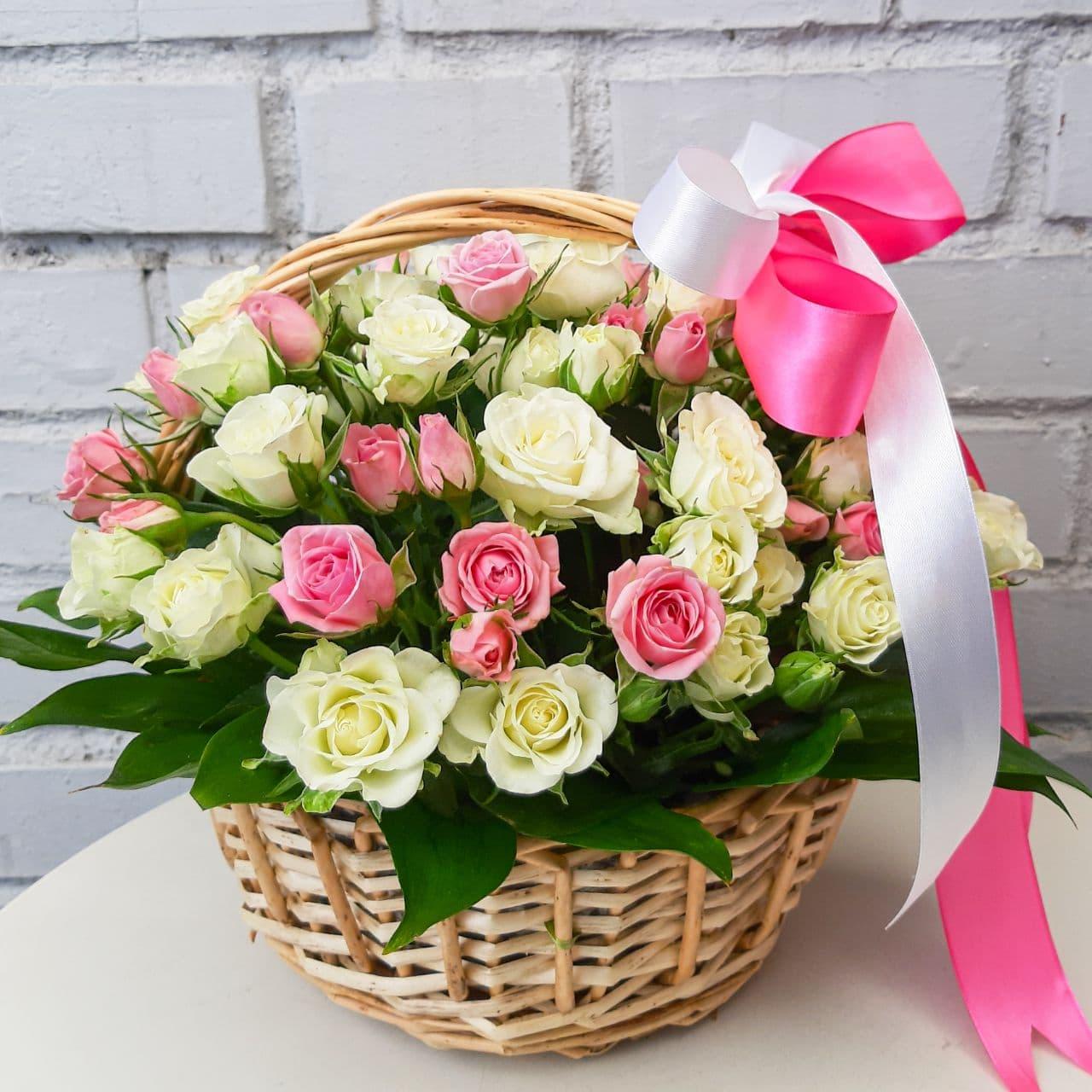 красивый букет розовых цветов устанавливаем минимальное число