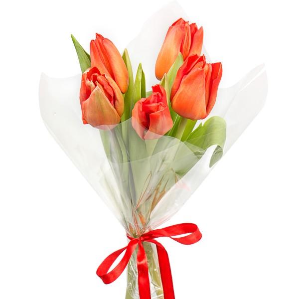 Свадебные букеты, букетик из 5 тюльпанов цена